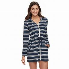 workout clothes covers s apt 9 174 hooded striped zip front cover up modest