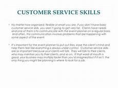 Describe Good Customer Service Skills Qualities Of A Good Event Planner