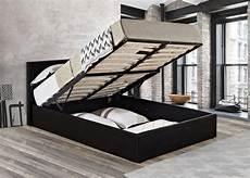 ottoman bed lift up storage bed black mattress