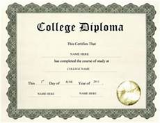 Blank College Diploma Free High School Diploma Templates Geographics