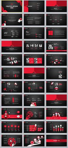 Black Powerpoint Template 33 Red Black Creative Powerpoint Template Creative