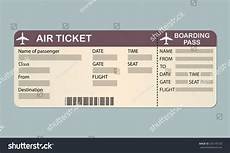 Blank Airline Ticket Template Airline Boarding Pass Ticket Template Detailed Blank Of