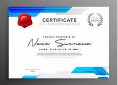 Free Certificates Of Appreciation Templates Abstract Blue Certificate Of Appreciation Template