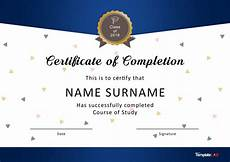 Certificate Of Training Template Free 40 Fantastic Certificate Of Completion Templates Word