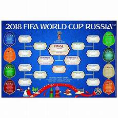 Fifa World Cup Russia Wall Chart Fifa Official World Cup Wallchart Poster Russia 2018