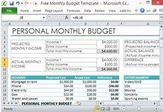 How To Make A Budget Sheet On Excel Free Personal Monthly Budget Template For Excel