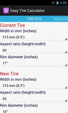 Tire Revolutions Per Mile Chart Free App Easy Tire Calculator Android Forums At