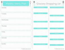 Menu Planner Template Craft Sew Create Free Printable Menu Plan Shopping List