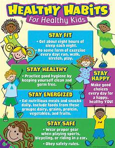 Healthy Chart Healthy Habits For Healthy Kids Chart Tcr7736 Teacher