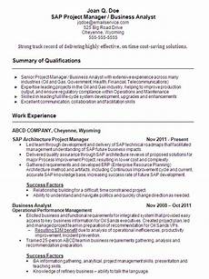 Business Analyst Project Manager Resume Sample Sample Resume Sap Project Manager And Business Analyst