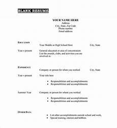 Free Blank Resume Templates Download 46 Blank Resume Templates Doc Pdf Free Amp Premium