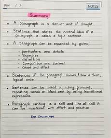 Summary Paragraphs Paragraph Summary English Grammar Englishlanguage With