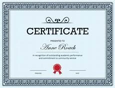 Service Certificate Model 27 Printable Award Certificates Achievement Merit Honor
