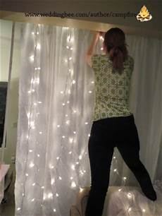 How To Make A String Light Curtain Diy Photo Booth Backdrop With String Lights