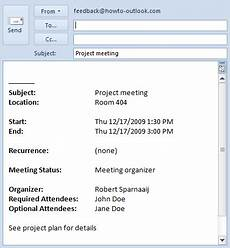 Sample Invitation For A Meeting By Email Add Cc Or Bcc Fields To Meeting Invitation Msoutlook Info