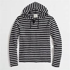 Black And White Designer Hoodie J Crew Factory Stripe Hoodie In Blue For Men Lyst
