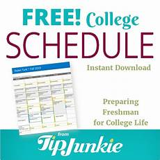 College Life Tips College Life Schedule With Freshman Tips Tip Junkie