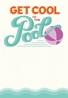 Pool Party Invites Free Printables Pool Party Free Printable Party Invitation Template