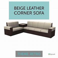 Two Tone Sofa 3d Image by If You Were To Combine A Large Two Tone Leather L Shaped