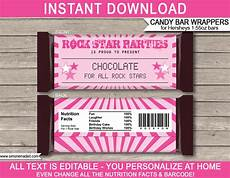 Hershey Candy Bar Wrappers Rockstar Hershey Candy Bar Wrappers Personalized Candy Bars