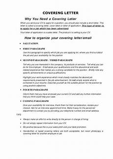 How To Write Covering Letter For Cv Covering Letter