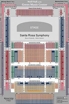 John M Greene Hall Seating Chart Seating Maps Santa Rosa Symphony