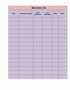Mileage Log Template For Taxes 31 Printable Mileage Log Templates Free ᐅ Templatelab