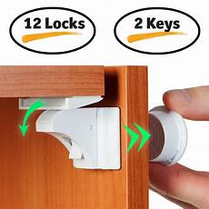 baby proofing magnetic cabinet lock set child safety locks