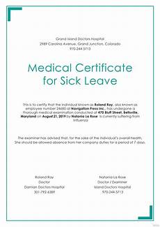 Medical Certificate Templates Free Medical Certificate For Sick Leave Template In Psd