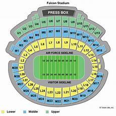 Af Falcon Stadium Seating Chart Air Force Falcons Football Tickets 2018 Games Ticketcity