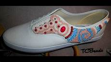 bead embroidered sneakers