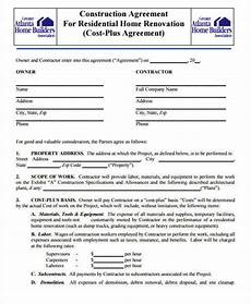 Construction Contract Free Download 7 Construction Contract Templates Word Google Docs