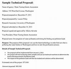 Technical Offer Sample Technical Proposal Template
