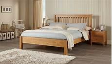 frigg solid oak wooden bed frame chunky design modern