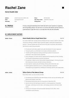 Home Health Care Resume Home Health Aide Resume Sample Amp Writing Guide 12