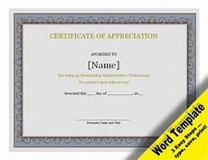 Free Certificates Of Appreciation Templates Certificate Of Appreciation Editable Word Template