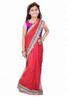Children Saree Design Buy Kids Sarees Online Sarees For Kids Kids Sari With Blouse