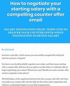 Negotiating Salary Offer Salary Negotiation Email Sample Counter Offer Letter