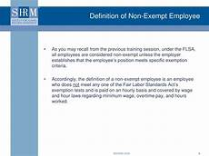 Definition Of Exempt Employees Ppt Flsa Training For Supervisors Part V Powerpoint