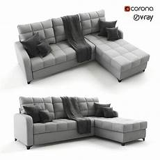 Sofa Bed 3d Image by 3d Model Corner Gray Sofa Bed Valery Cgtrader