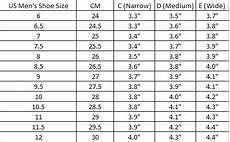 Mens Shoe Width Chart How To Find Your Shoe Size Amp Width Yumo Pro Shop