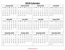 A Year Calendar Yearly Calendar 2018 Free Download And Print