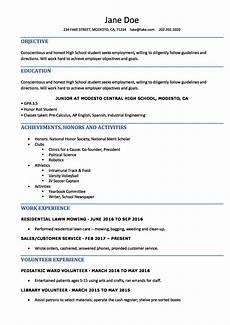 Sample Resume For High School Students High School Resume Resume Templates For High School