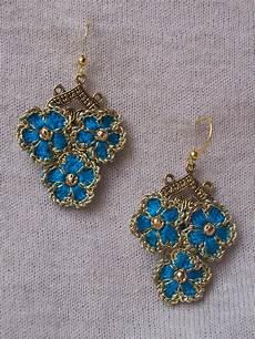 outstanding crochet crochet earrings quot forget me not quot