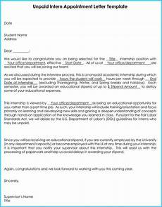 End Of Internship Letter From Employer Internship Offer Amp Appointment Letter Template 7