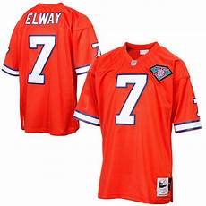 Mitchell And Ness Throwback Jersey Size Chart Mens Denver Broncos John Elway Mitchell Amp Ness Orange