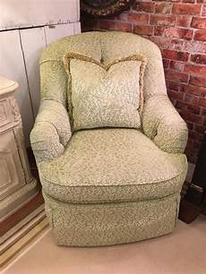 Consign And Design Palm Beach Gardens Century Green Swivel Club Chair Consign Amp Design