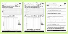 Food Tally Chart Favorite Fruit Tally And Pictogram Worksheet Activity Sheets