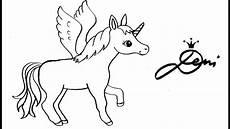 Einhorn Pegasus Ausmalbilder Pferd Einhorn Pegasus Schnell Zeichnen Lernen How To