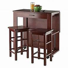 winsome trading 3 fremont dining set in walnut bar